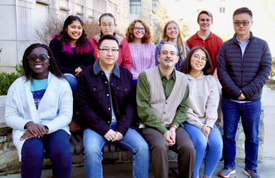 Dr. Capelluto and his research group of students.